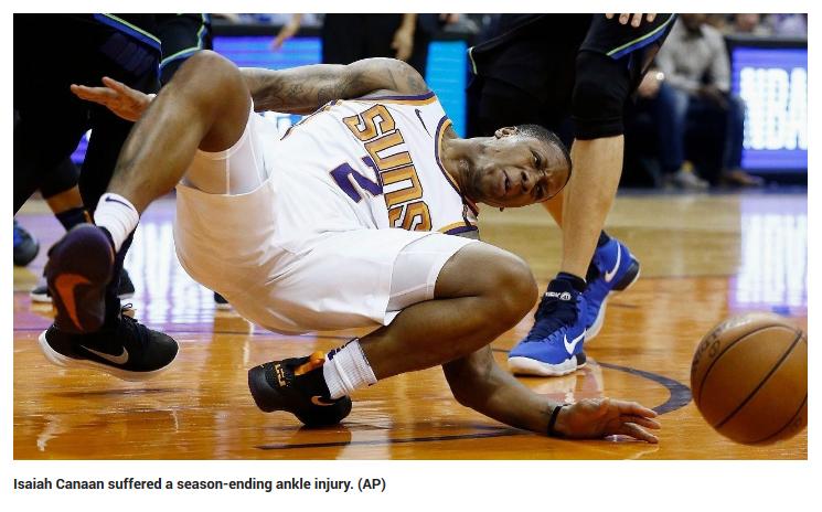 AP Photo - Isaiah Cannan Foot Injury