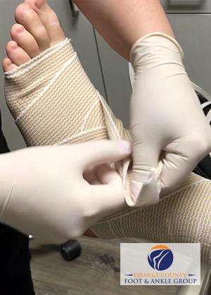 Basketball injury wrap with Ace Bandage - Sports Injuries - OCfeet.com - Orange County Podiatrist