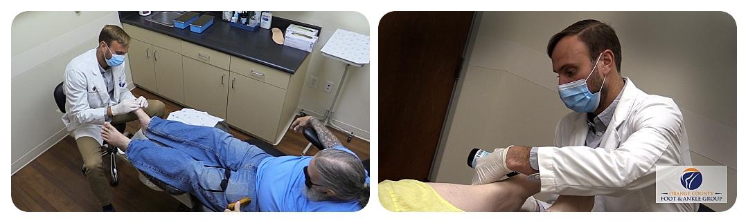 Dr. LeJeune & patient - OCfeet.com
